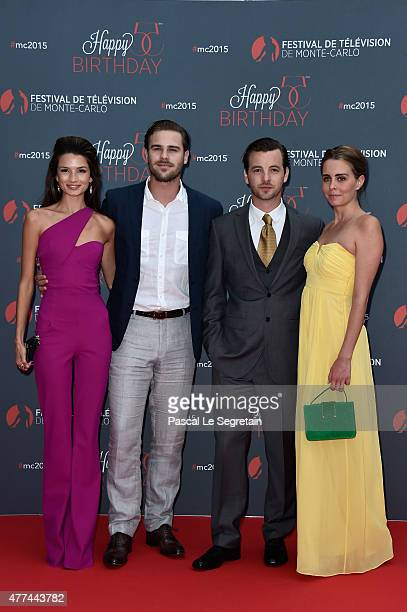 Grey Damon Gethin Anthony and guests attend the 55th Monte Carlo Beach anniversary as part of the 55th Monte Carlo TV Festival Day 4 on June 16 2015...