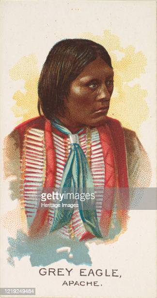 Grey Eagle, Apache, from the American Indian Chiefs series for Allen & Ginter Cigarettes Brands, 1888. Artist Allen & Ginter.