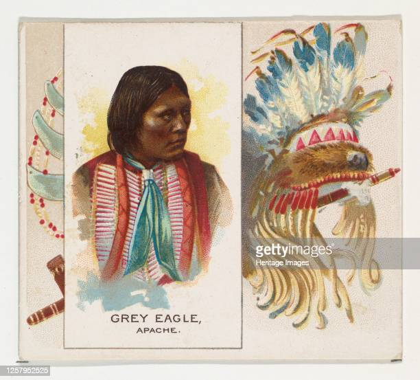 Grey Eagle, Apache, from the American Indian Chiefs series for Allen & Ginter Cigarettes, 1888. Artist Allen & Ginter.