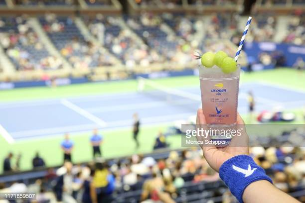 Grey Goose Honey Deuce cocktails are served as Grey Goose toasts to the 2019 US Open at Arthur Ashe Stadium on September 02, 2019 in New York City.