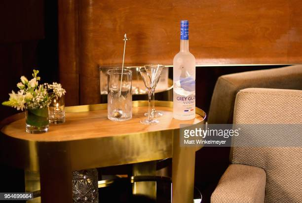 """Grey Goose on display during Grey Goose Vodka and Jamie Foxx Launch """"Off Script"""" at Employees Only on May 2, 2018 in West Hollywood, California."""