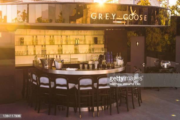 Grey Goose Rooftop Bar at Tinto Hotel Boutique, Barrio Bellavista Neighborhood, Santiago, Chile, South America.