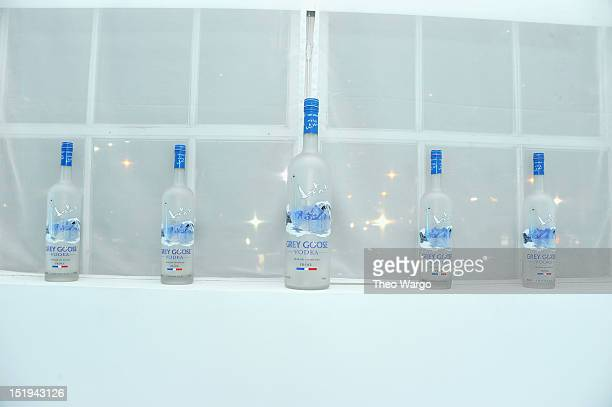 Grey Goose Vodka bottles on display at Grey Goose Hosts Exclusive DJ Spinoff Behind The Blue Door With Tennis Icon James Blake on September 13 2012...