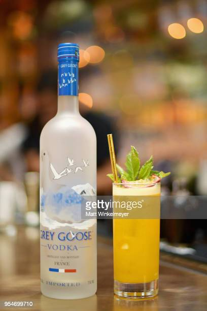 """Grey Goose Vodka cocktail on display during Grey Goose Vodka and Jamie Foxx Launch """"Off Script"""" at Employees Only on May 2, 2018 in West Hollywood,..."""