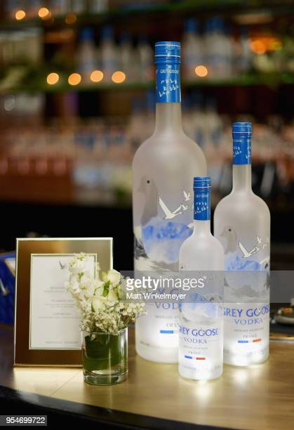 """Grey Goose Vodka on display during Grey Goose Vodka and Jamie Foxx Launch """"Off Script"""" at Employees Only on May 2, 2018 in West Hollywood, California."""