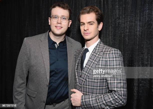 Grey Henson and Andrew Garfield attend the Tony Honors Cocktail Party Presenting The 2018 Tony Honors For Excellence In The Theatre And Honoring The...