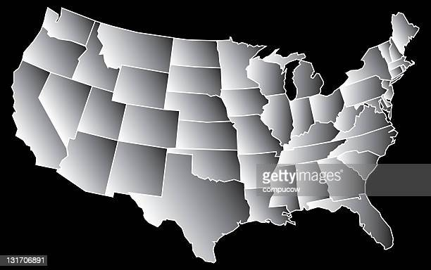 US Grey Map