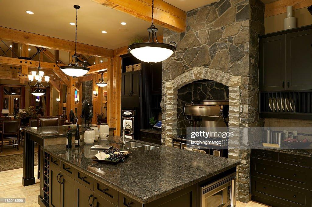 Grey Marble And Stone Kitchen Decor : Stock Photo