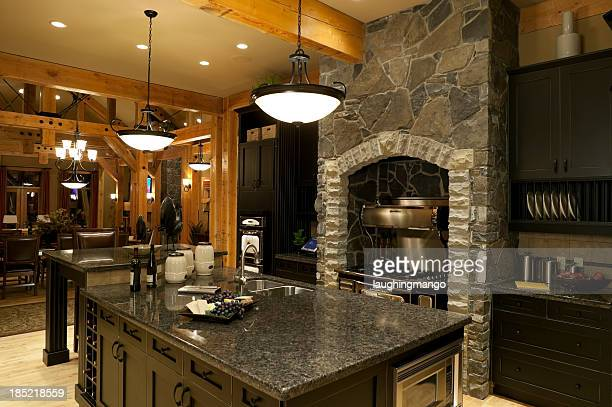 Grey marble and stone kitchen decor
