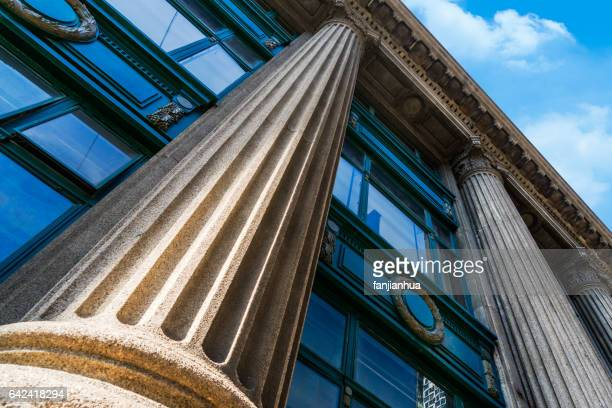 grey marble column details on building - politics and government imagens e fotografias de stock