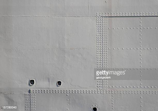 grey military rivets - military ship stock pictures, royalty-free photos & images