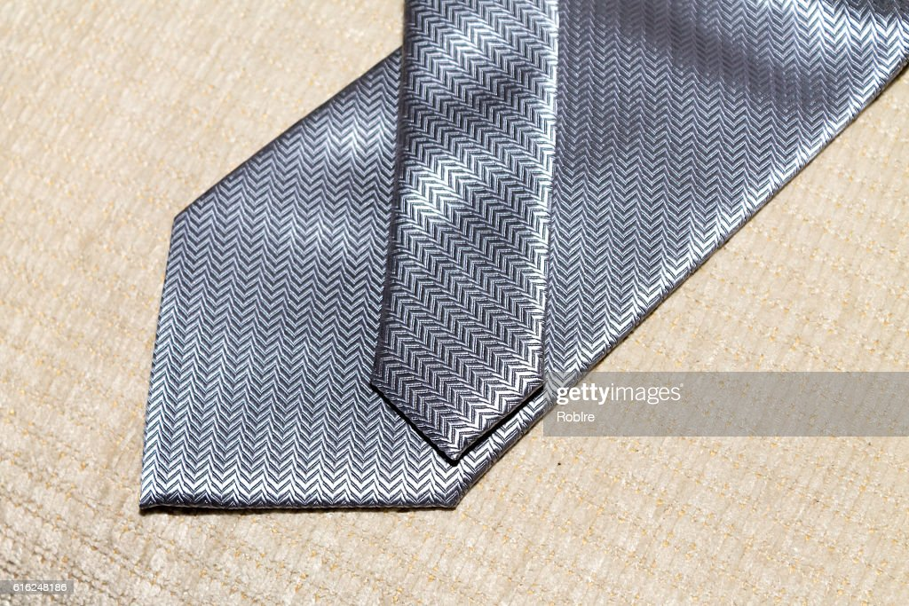 Grey Necktie : Stock Photo