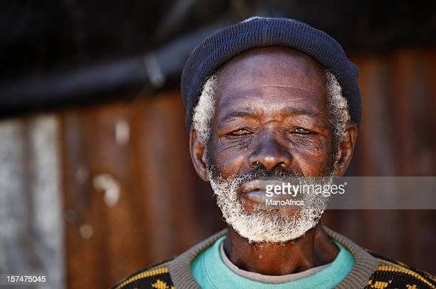 Grey old African man