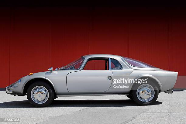 grey old sportscar - vintage car stock pictures, royalty-free photos & images