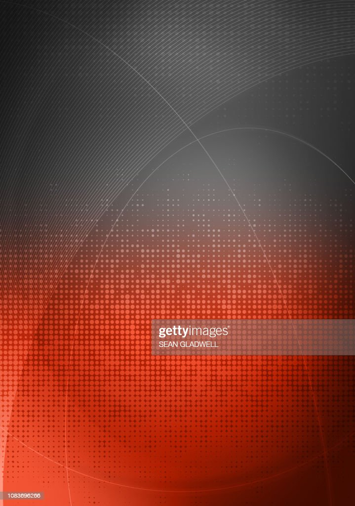 Grey red graphic backdrop : Stock Photo