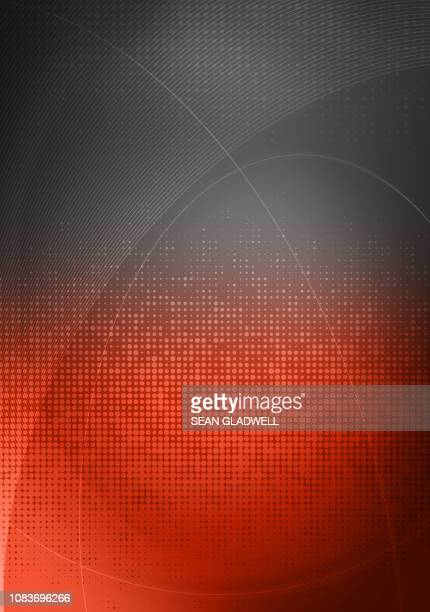 grey red graphic backdrop - pixels stock photos and pictures