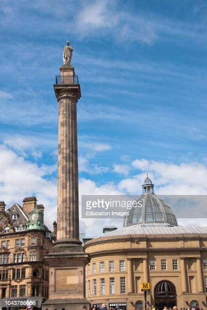 Grey Street and Greys Monument Newcastle England