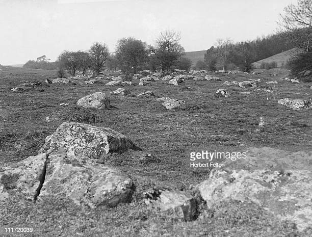 Grey Weathers or Sarsen Stones near Marlborough Wiltshire circa 1920
