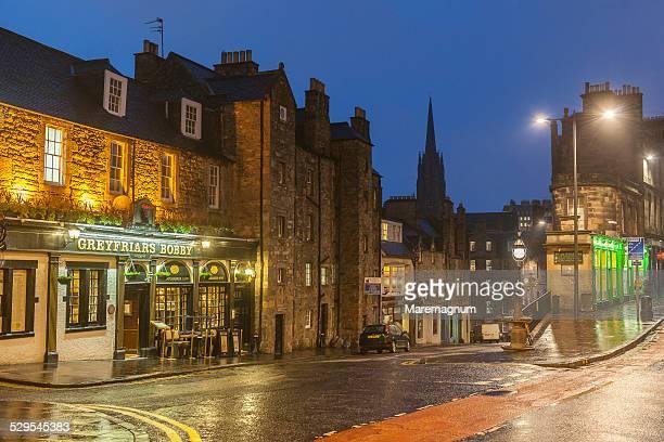 greyfriars pub, candlemaker row - café bar gebouw stockfoto's en -beelden