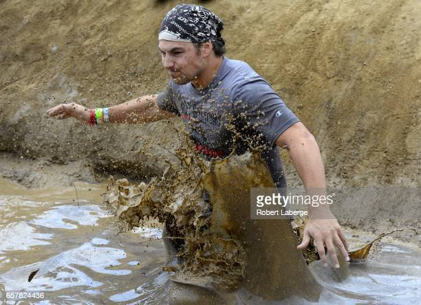 Grey's Anatomy actor Giacomo Gianniotti competes during the Tough Mudder Half Los Angeles event to raise money for My Friend's Place charity on March...