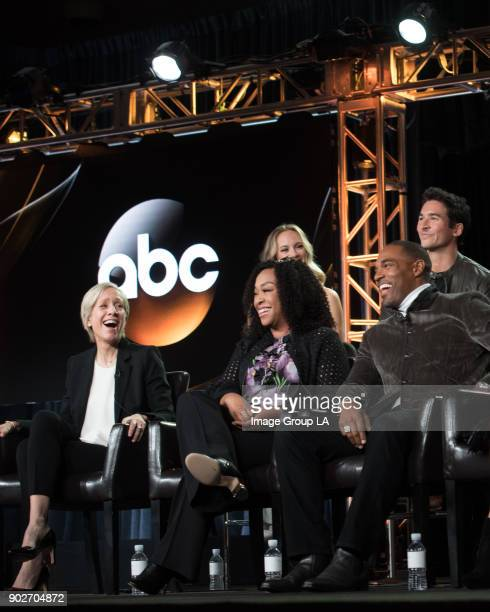 """Grey's Anatomy"""" Spin-off Session - The cast and executive producers of """"Grey's Anatomy"""" spin-off addressed the press at Disney   Walt Disney..."""