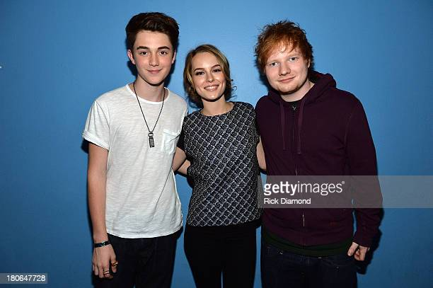 Greyson Chance Bridgit Mendler and Ed Sheeran attend TJ Martell Foundation's 14th Annual Family Day Honoring Paradigm Talent Agency's Marty Diamond...
