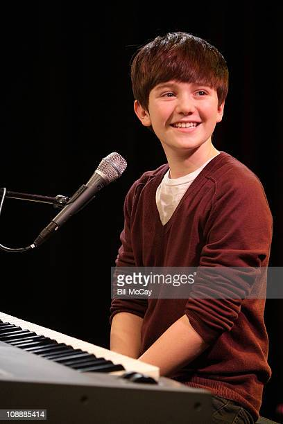 Greyson Chance performs at Q102 SNOL Xfinity Performance Theater February 7 2011 in Bala Cynwyd Pennsylvania