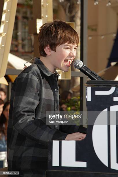Greyson Chance performs at The Grove on February 26 2011 in Los Angeles California