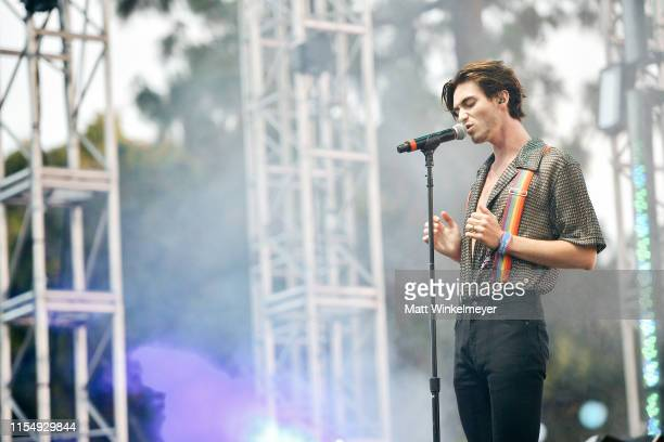 Greyson Chance performs during LA Pride 2019 on June 09 2019 in West Hollywood California