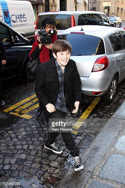 Greyson Chance sighting in Paris on December 9 2010 in Paris France