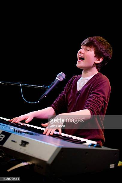 Greyson Chance visits the WIOQ SNOL Xfinity Performance Theater on February 7 2011 in Bala Cynwyd Pennsylvania