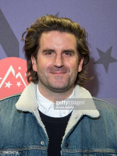 Grégoire Ludig attends 'Nicky Larson et le parfum de Cupidon' premiere during the 22nd L'Alpe D'Huez International Comedy Film Festival on January 18...