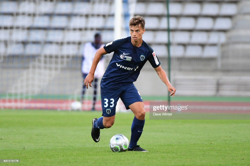 Grégoire Pineau of Paris FC during the French League Cup match between Paris FC and Clermont Foot at Stade Charlety on August 22, 2017 in Paris, France.