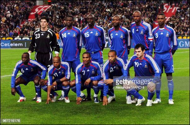 Grégory Coupet Louis Saha Lilian Thuram William Gallas Patrick Vieira et Eric Abidal au premier plan Claude Makelele Sylvain Wiltord Florent Malouda...
