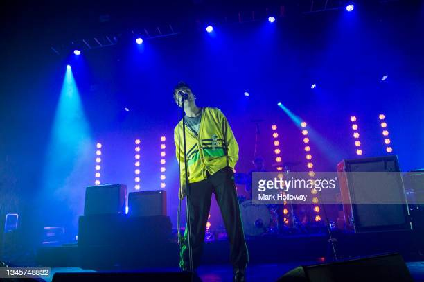 Grian Chatten and Tom Coll of Fontaines D.C. Performing at O2 Guildhall on October 09, 2021 in Southampton, England.