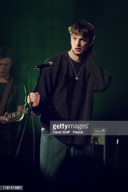 Grian Chatten from Fontaines D.C. Performs at Le Bataclan on November 10, 2019 in Paris, France.