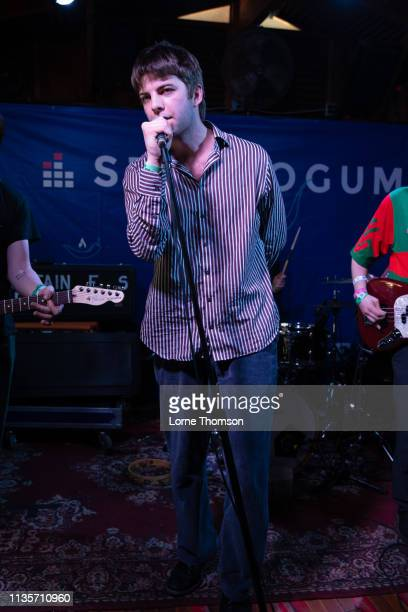 Grian Chatten of Fontaines D.C performs at Cheer Up Charlies on March 13, 2019 in Austin, Texas.