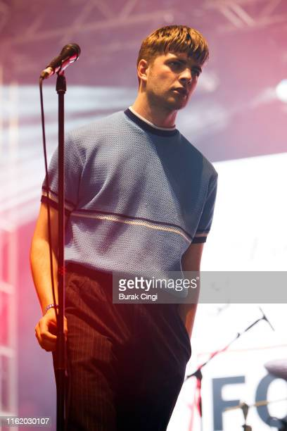 Grian Chatten of Fontaines DC performs at Citadel Festival at Gunnersbury Park on July 14, 2019 in London, England.