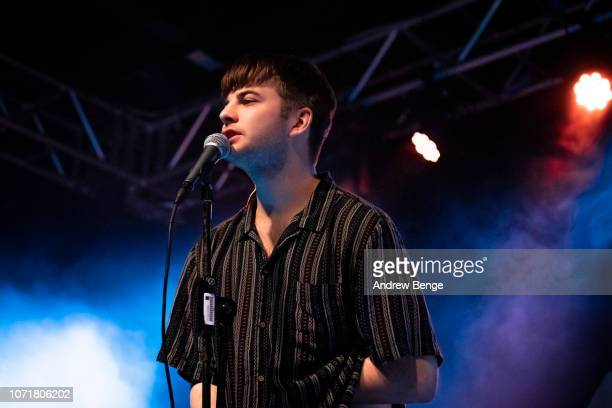 Grian Chatten of Fontaines D.C. Performs at Stylus on November 20, 2018 in Leeds, England.