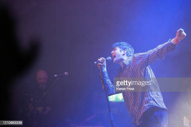 Grian Chatten of Fontaines D.C. Performs at the RTE Choice Music Prize at Vicar Street on March 05, 2020 in Dublin, Dublin.