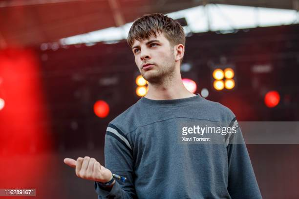 Grian Chatten of Fontaines D.C. Performs in concert during the Festival Internacional de Benicassim on July 18, 2019 in Benicassim, Spain.
