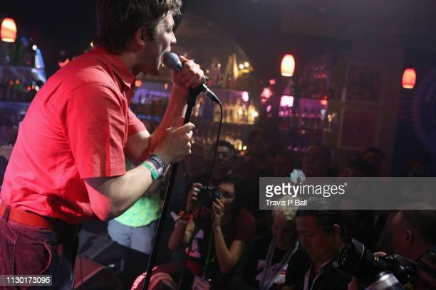 Grian Chatten of Fontaines D.C. Performs onstage at ATC during the 2019 SXSW Conference and Festivals at Latitude 30 on March 12, 2019 in Austin,...