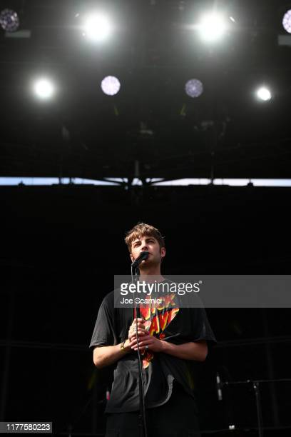 Grian Chatten of Fontaines D.C. Performs onstage during the 2019 Ohana Festival at Doheny State Beach on September 27, 2019 in Dana Point, California.