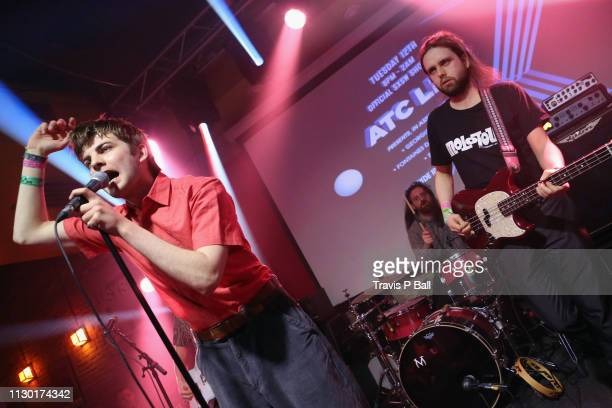 Grian Chatten, Tom Coll, and Conor Deegan III of Fontaines D.C. Perform onstage at ATC during the 2019 SXSW Conference and Festivals at Latitude 30...