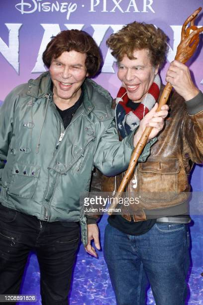 "Grichka and Igor Bogdanoff attend the ""Onward"" Paris Gala Screening at Cinema UGC Normandie on February 26, 2020 in Paris, France."