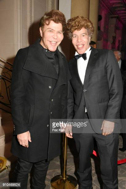 Grichka Bogdanoff and Igor Bogdanoff attend the 41st The Best Award Ceremony in Paris Paris Fashion Week Haute Couture Spring Summer 2018 at Hotel...