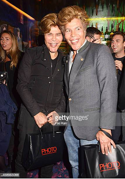 Grichka Bogdanoff and Igor Bogdanoff attend the Photo Magazine Dinner Party Hosted by Monika Bacardi and De Grisogono in Paris on November 13, 2014...