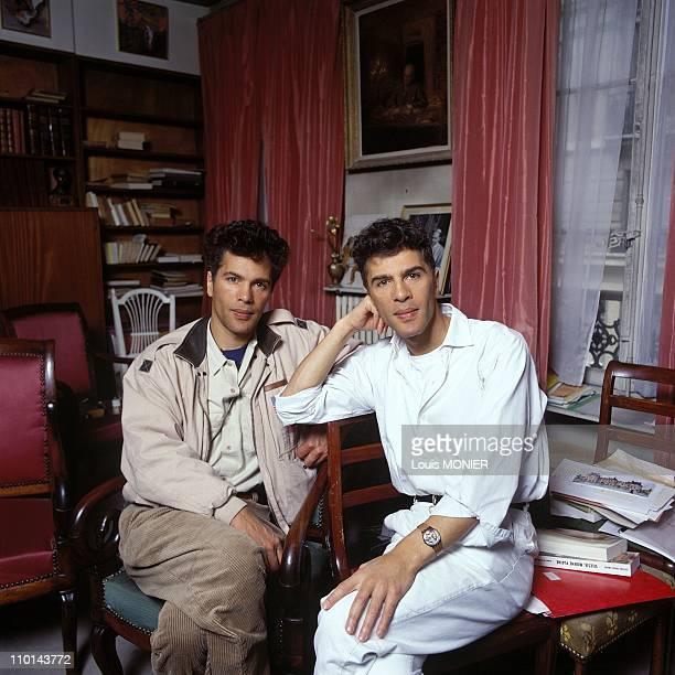Grichka Bogdanoff and Igor Bogdanoff in France in June 1991