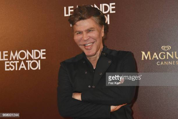 Grichka Bogdanoff attend the Le Monde Est A Toi Party during the 71st annual Cannes Film Festival at Magnum Beach on May 12 2018 in Cannes France
