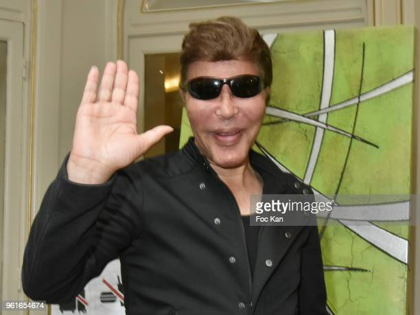 Grichka Bogdanoff attends Citestars Press Conference at Hotel Saint Petersbourg on May 22 2018 in Paris France